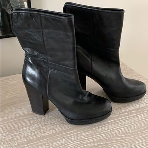 Banana Republic Real Leather Black Boots